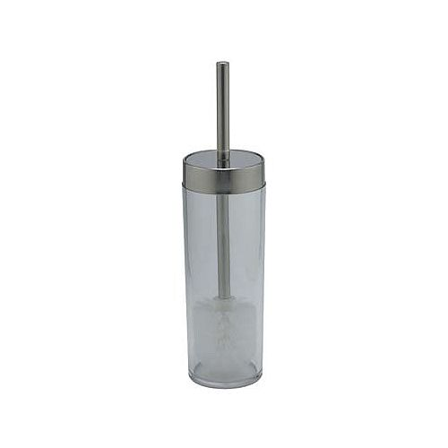 Brosse de toilette avec support Philip, chrome poli/verre translucide