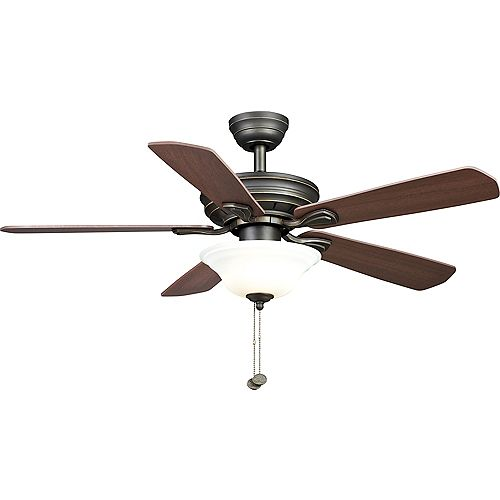 Wellston 44-inch LED Indoor Oil Rubbed Bronze Ceiling Fan with Light Kit