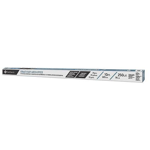"""Strait-Flex Arch-Stick AS-10 Cornière de cloison sèche 3-3/8"""" x 10 pieds"""