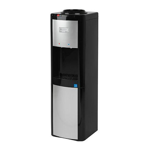 Distributeur d'eau à chargement par le haut de (chaud et froid), noir/platine
