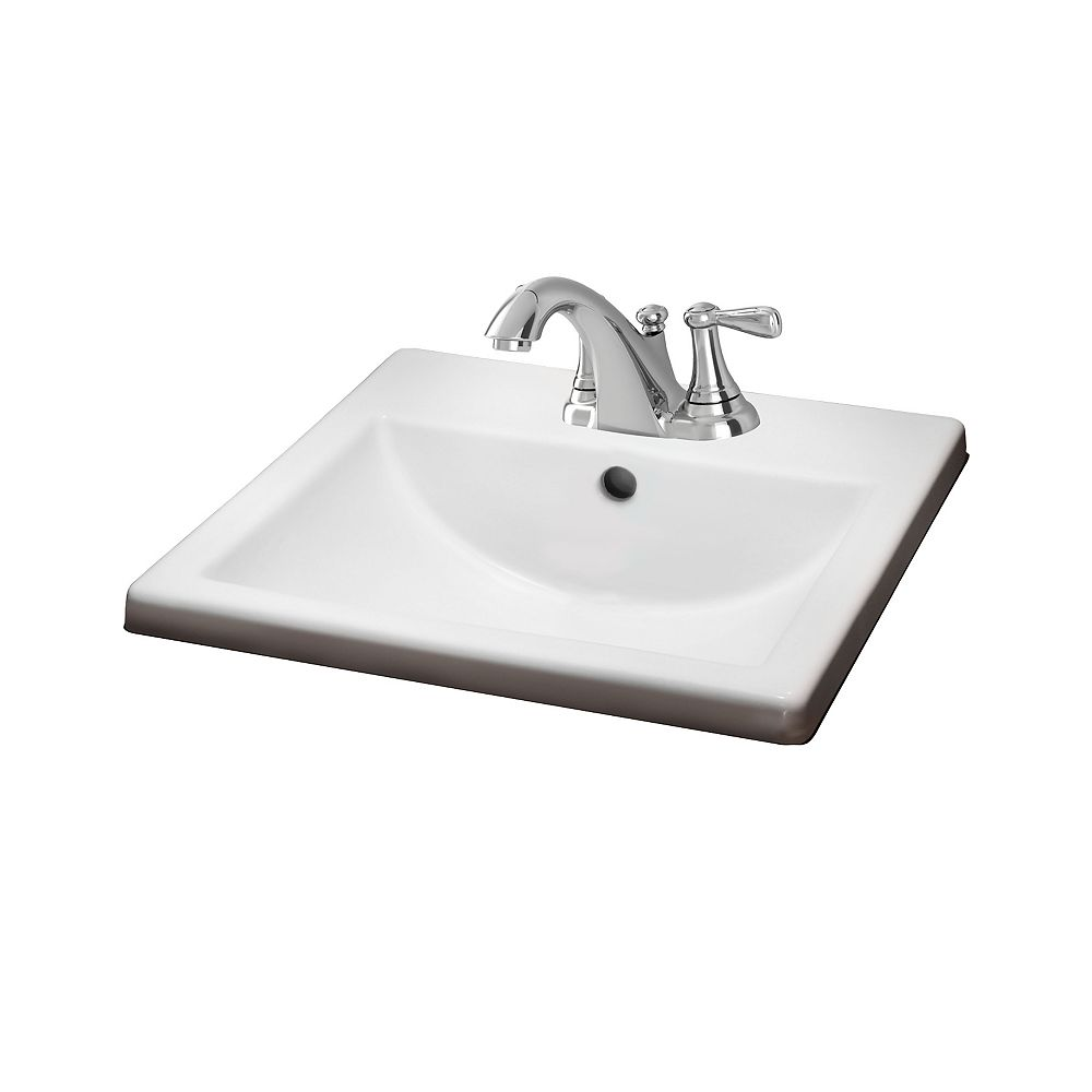 American Standard Marquete Square Bathroom Sink Basin In White The Home Depot Canada