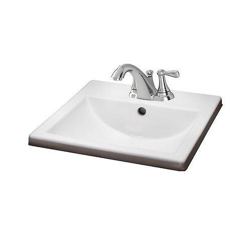 Lavabo de salle de bains Marquete Square en blanc