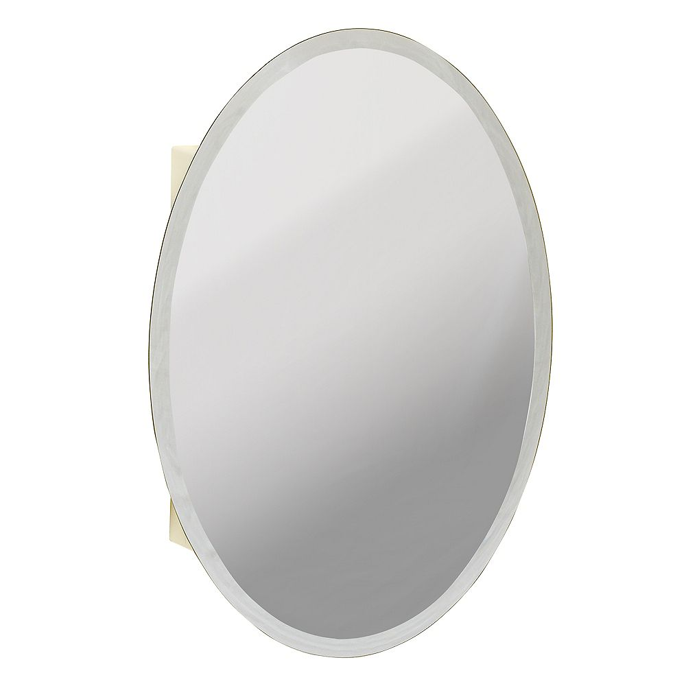 Zenith Products Oval Beveled Mirror Medicine Cabinet