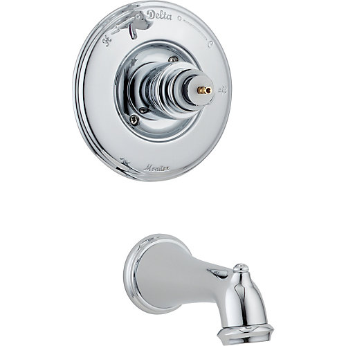 Victorian 1-Handle Tub Filler Trim in Chrome (Valve not included)