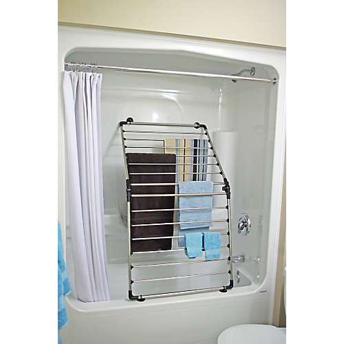 multi-function drying rack. 36 ft. of drying space. Stainless steel and black finish