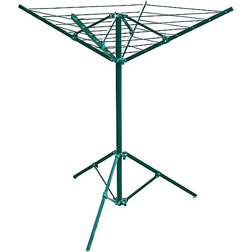 portable outdoor clothes dryer, 51 ft. of drying space, green powder coated steel