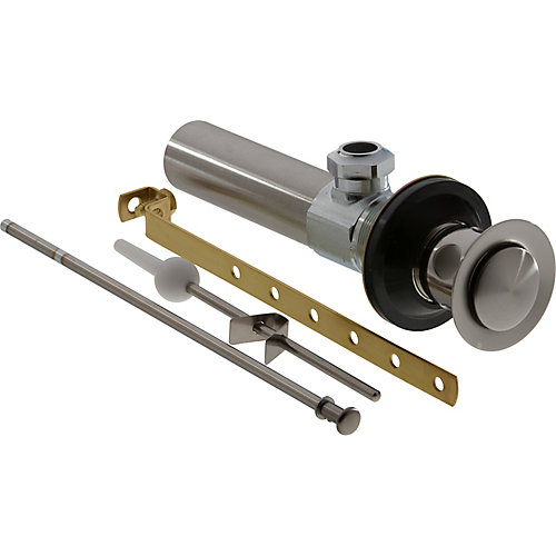 Lavatory Drain Assembly with Lift Rod in Stainless