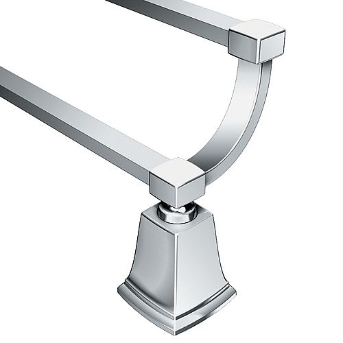 Boardwalk 24 Inch Double Towel Bar - Chrome