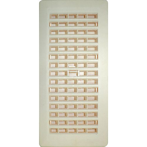 4 Inch x 10 Inch Beige Floor Register (6-Pack)