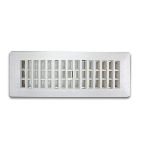 3 Inch x 10 Inch White Floor Register (6-Pack)