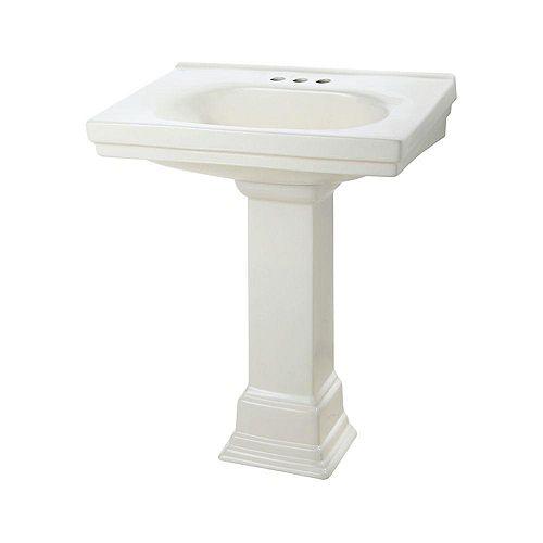 Foremost Cuvette de lavabo sur colonne Structure Suite de 50,80 cm (20 po) en biscuit