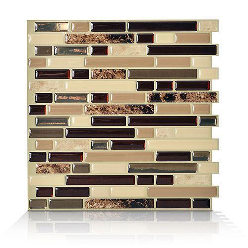 1-Piece 10.13-inch x 10-inch Peel and Stick Bellagio Mosaik