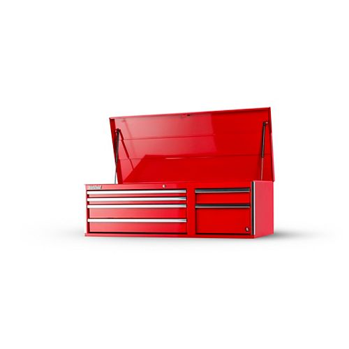 56-inch 6-Drawer Top Tool Storage Chest in Red