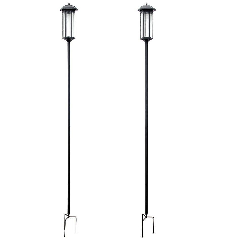 Hampton Bay 60 Inch Solar LED Torch Pathway Light (2-Pack)