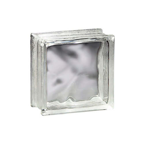 6 Inch x 6 Inch x 4 Inch Glass Block Decora Pattern, case of 12