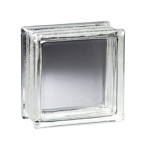 8 Inch x 8 Inch x 4 Inch Glass Block Vue Pattern, case of 8