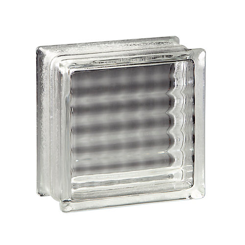 8 Inch x 8 Inch x 4 Inch Glass Block Argus Pattern, case of 8