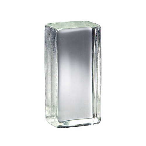 4 Inch x 8 Inch x 3 Inch Solid Glass Block Vistabrik, case of 6