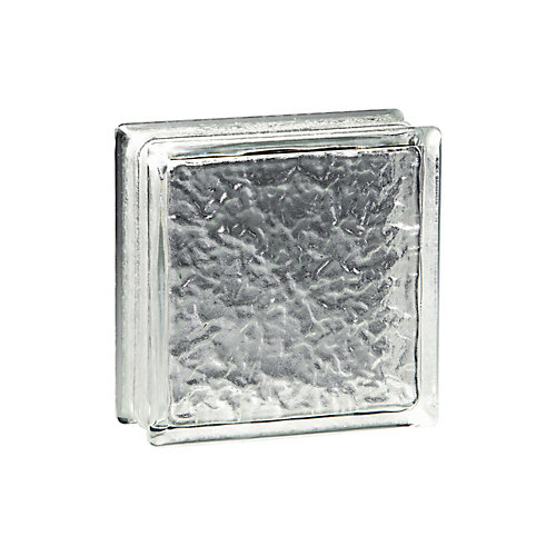 6 Inch x 6 Inch x 3 Inch Glass Block IceScapes Thinline Pattern, case of 16