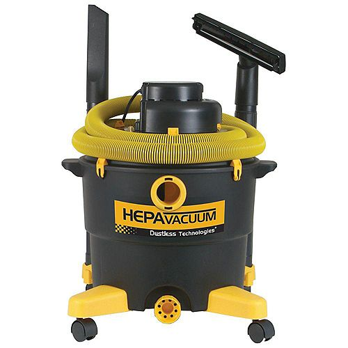 Dustless HEPA 16 Gallon Wet/Dry Vacuum
