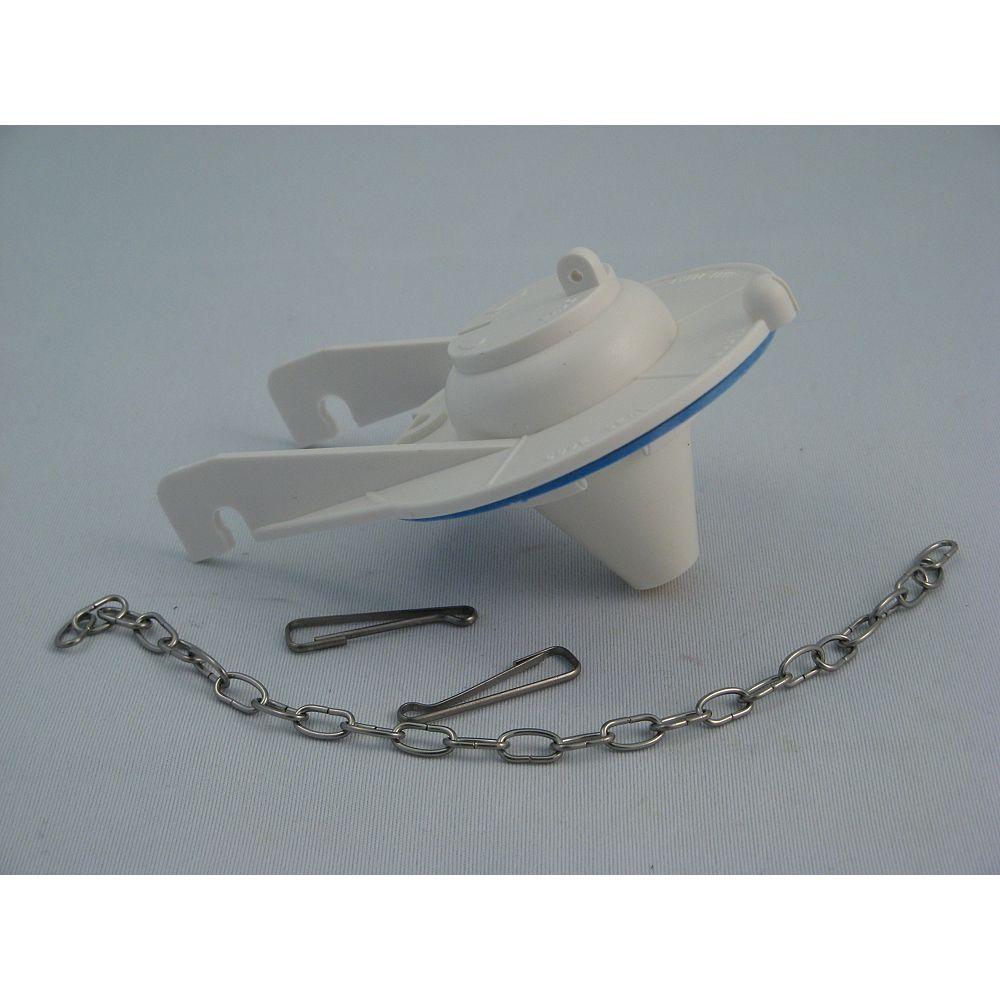 Jag Plumbing Products Clapet de remplacement pour toilette American Standard, COAST, TOTO ou KOHLER, plastique rigide blanc