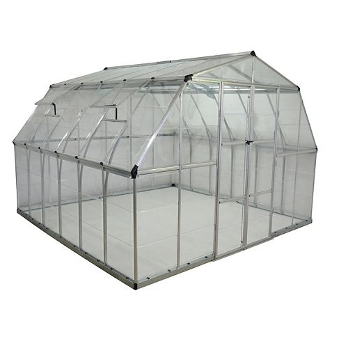 Deluxe XL 12 ft. x 12 ft. Clear Greenhouse