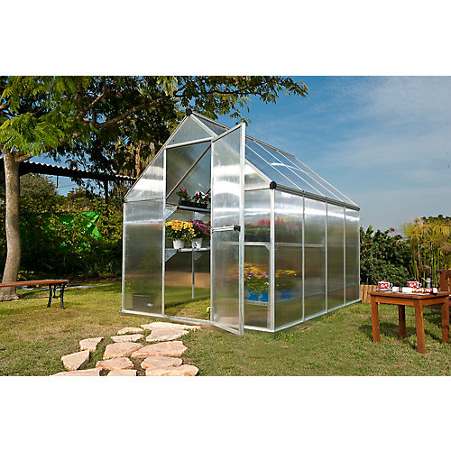 Deluxe 6 ft. x 8 ft. Twin Wall Silver Greenhouse