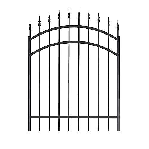 Barrière Richelieu en aluminium 48 po x 45 po, noir,  (quincaillerie non incluse)