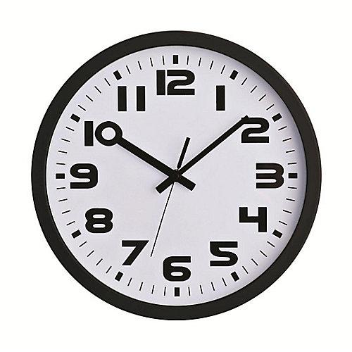 Horloge murale noir, 12po