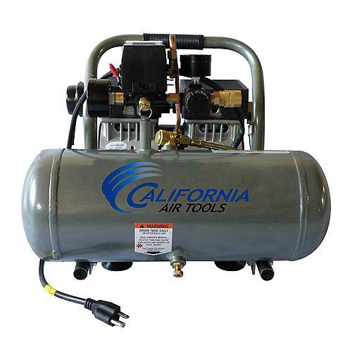 1.0 HP 1.6 Gal Ultra Quiet Oil-Free Aluminium Tank Air Compressor