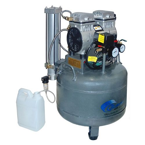 1.0 HP  9.0 Gal Ultra Quiet Oil-Free Steel Tank Air Compressor with Air Dyer