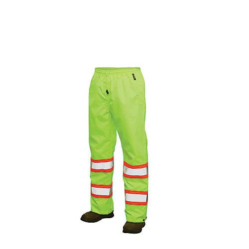 Pantalon de pluie haute visibilité avec bandes réfléchissantes— jaune/vert ttg