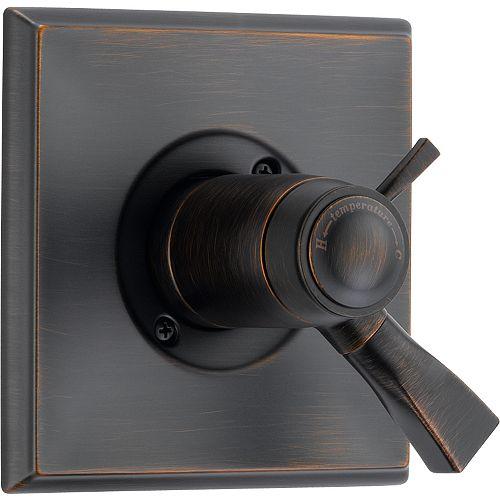 Dryden 1-Handle Thermostatic Diverter Valve Trim Kit in Venetian Bronze (Valve Sold Separately)