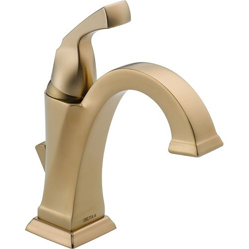 Delta Dryden Single Hole 1-Handle High Arc Bathroom Faucet in Bronze with Lever Handle