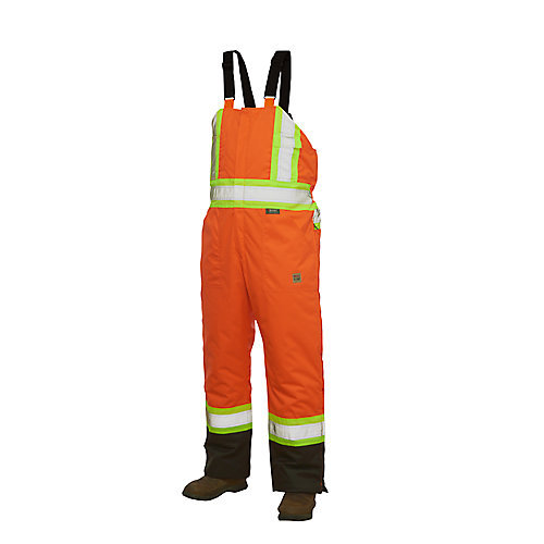 Salopette doublée haute visibilité avec bandes réfléchissantes— orange tttg