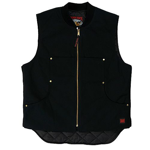 Quilted Lined Vest Black 3X Large