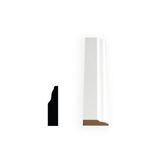 3/8-inch x 1 3/8-inch x 144-inch Colonial MDF Primed Fibreboard Stop Moulding