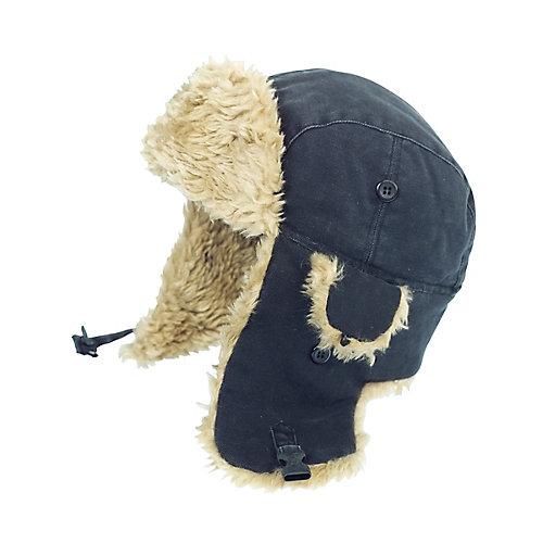 Chapeau daviateur en toile— noir tg