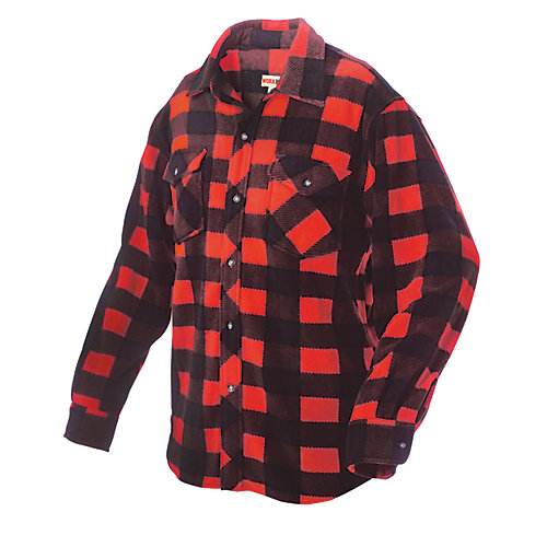 Plaid Solar Fleece Shirt Red 3X Large