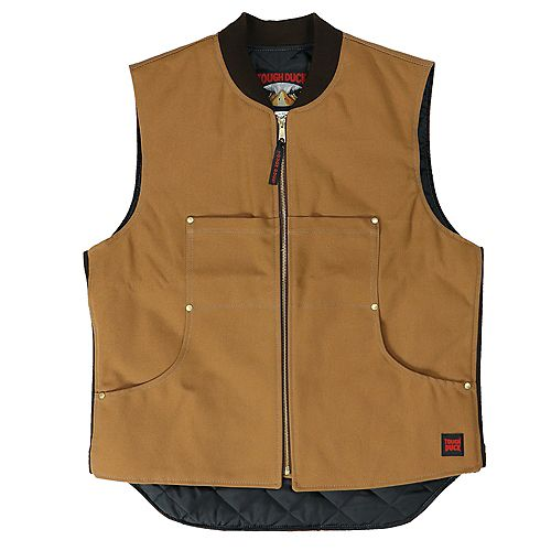 Quilted Lined Vest Brown 3X Large