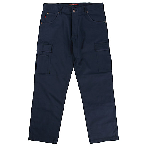 Pantalon de travail cargo en twill extensible— marine 36t-32l