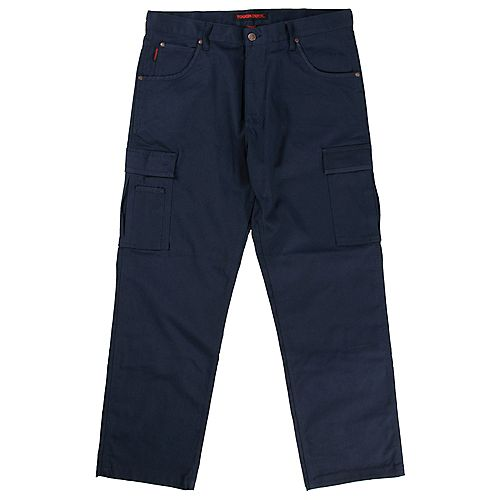 Stretch Twill Cargo Work Pant Navy 36W X 32L