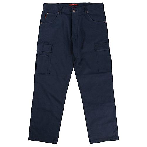 Pantalon de travail cargo en twill extensible— marine 38t-32l