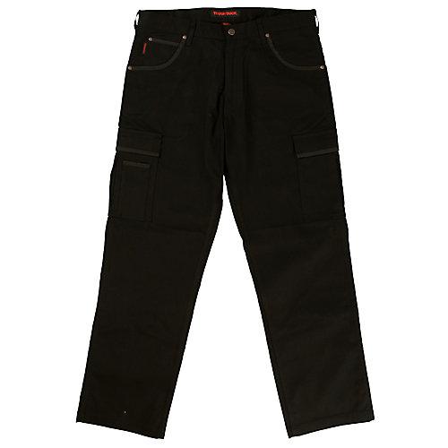 Pantalon de travail cargo en twill extensible— noir 30t-32l
