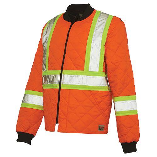 Blouson matelassé haute visibilité avec bandes réfléchissantes— orange tg