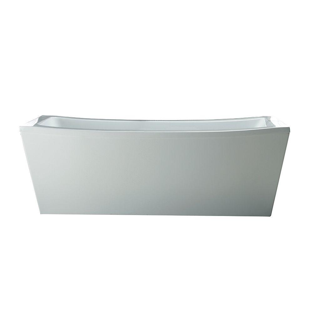 Ove Decors Terra 6 ft. Acrylic Freestanding Flat-bottom Bathtub in White