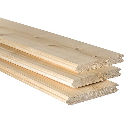 1x6x8 Knotty Eastern White Cedar V Match Panelling
