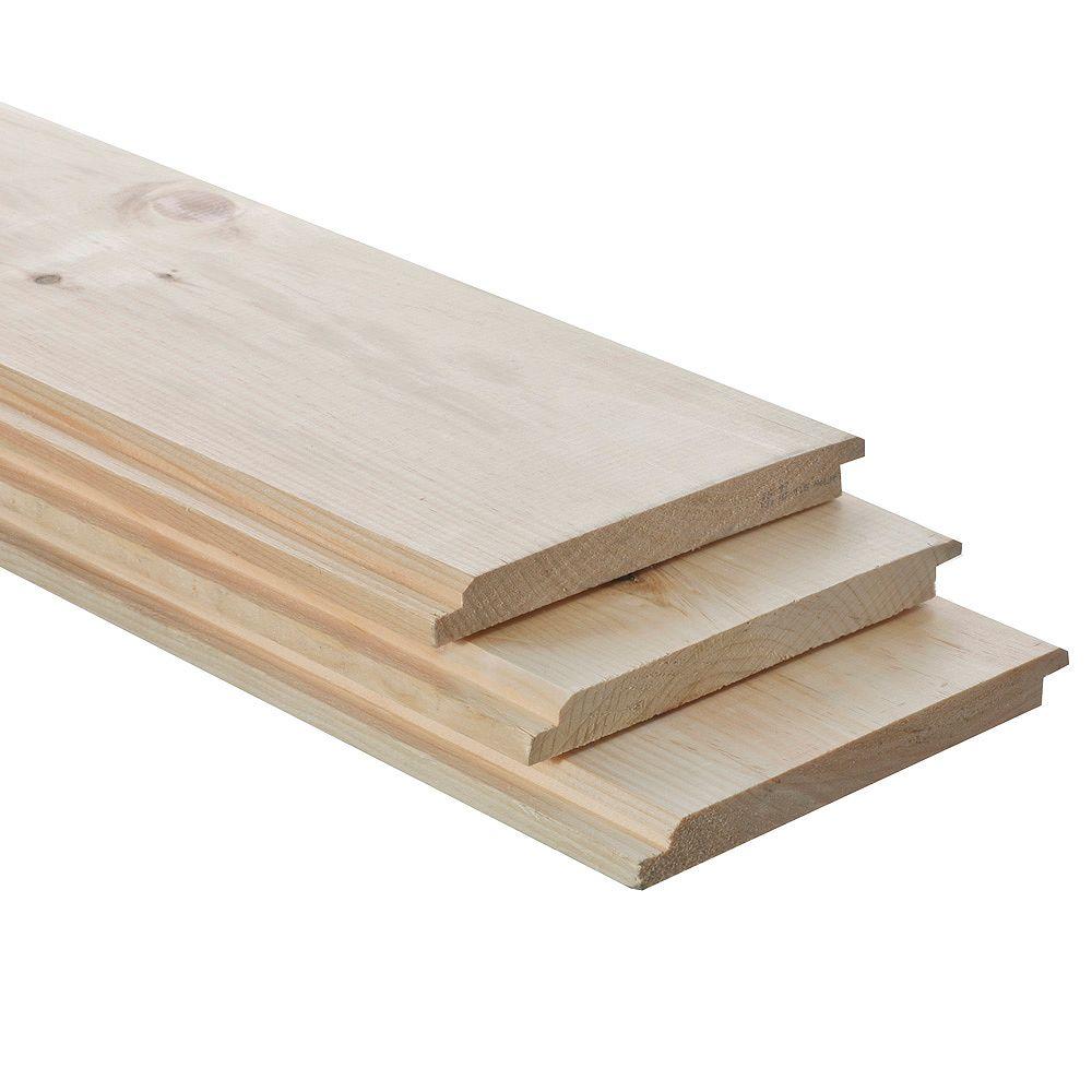 Irving 1x8x8 Knotty Pine Reversible Barn Board