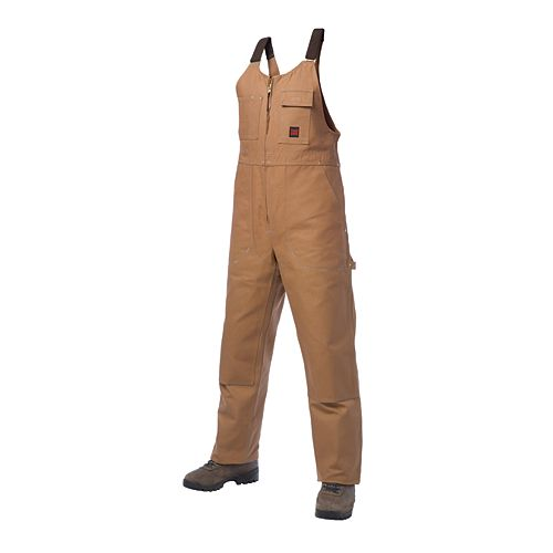 Unlined Bib Overall Brown Large