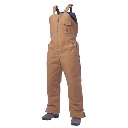 Insulated Bib Overall Brown X Large